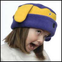 Purple and Gold Dog Hat