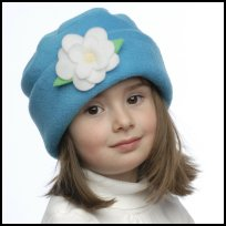 Turquoise Flower Hat