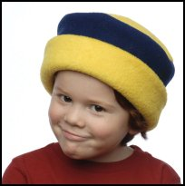 Yellow and Navy Roll Hat