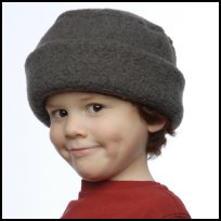 Gray Berber Roll Hat
